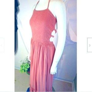 NWT Boho Festival Promesa Maxi Peach Dress S